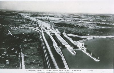 An Aerial View of the Twin Flight Locks