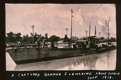 A Captured German Submarine on the Welland Canal