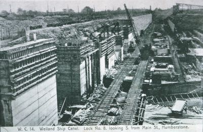 Lock 8 of the Welland Ship Canal Under Construction