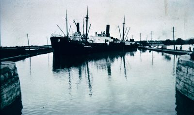 A Collision of Two Ships along the Welland Canal