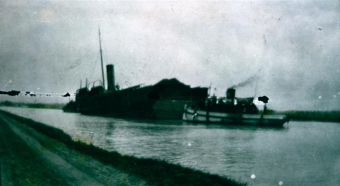 A Ship Cut in Half in the Welland Canal