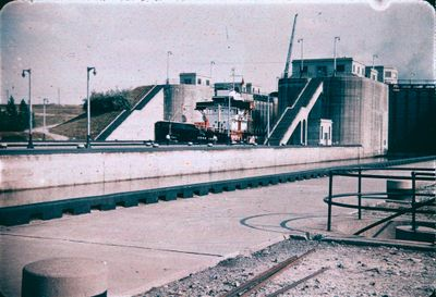 Twin Flight Locks on the Welland Ship Canal