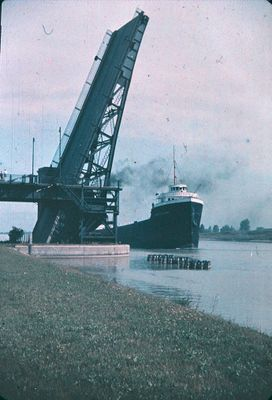 A Ship Passing Underneath the Homer Lift Bridge
