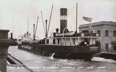 "Canada Steam Ship ""Dundas"" in Lock 7"