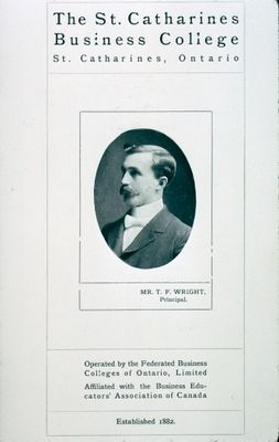 """The Title Page of """"The OutLook"""", A Promotional Book for the St. Catharines Business College"""