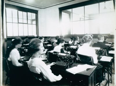A Typing Classroom at the St. Catharines Business College