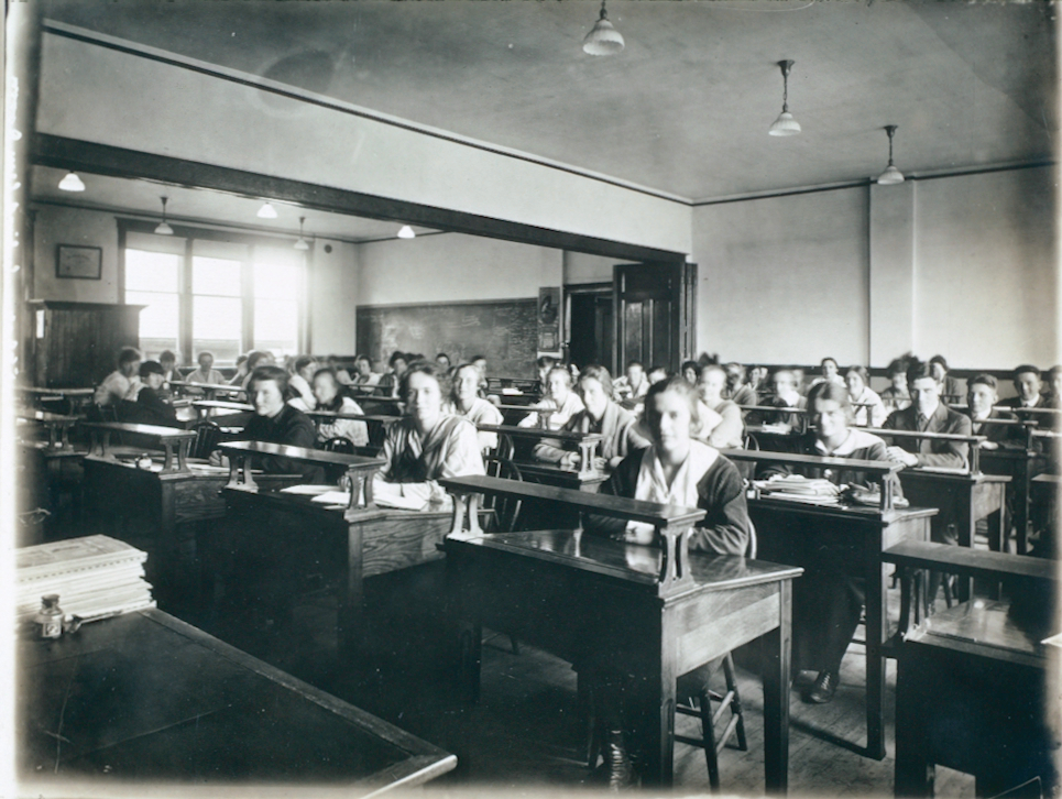 A Classroom at the St. Catharines Business College