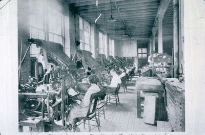 Linotype Machines at the St. Catharines Standard