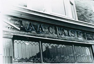 A.A. Craise Sign found under J.H. Sandham Sign