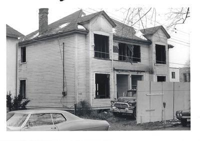 A House Under Demolition on Wellington Street