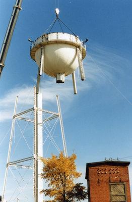 Weyerhaeuser water tower removal, Sturgeon Falls