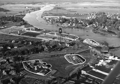 Aerial view of the Abitibi mill