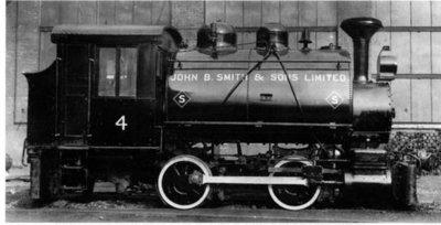 Locomotive à vapeur de John B. Smith / J.B. Smith Steam Locomotive
