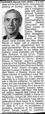 Nécrologie / Obituary Marcel Fournier