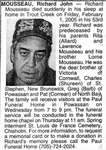 Nécrologie / Obituary Richard John Mousseau