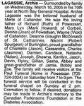 Nécrologie / Obituary Archie Lagassie