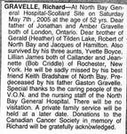 Nécrologie / Obituary Richard Gravelle