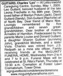 Nécrologie / Obituary Charles 'Leo' Guitard