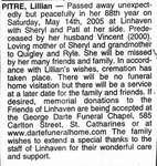 Nécrologie / Obituary Lillian Pitre