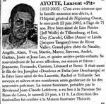 "Nécrologie / Obituary Laurent ""Pit"" Ayotte"