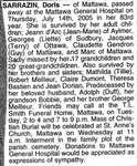 Nécrologie / Obituary Doris Sarrazin