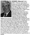 Nécrologie / Obituary Edmond Berry