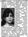 Nécrologie / Obituary Louise Landry