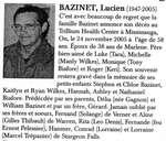 Nécrologie / Obituary Lucien Bazinet
