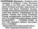 Nécrologie / Obituary Raymond Chartrand