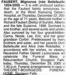 Nécrologie / Obituary Mignonne Faubert (née Bellefeuille)