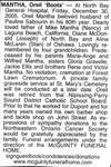 "Nécrologie / Obituary Oreil ""Boots"" Mantha"