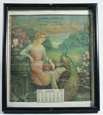 Calendar - March 1934