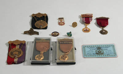 Royal Canadian Legion Medals, Pins, and Member Card