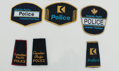 Canadian Pacific Police Shoulder Badges