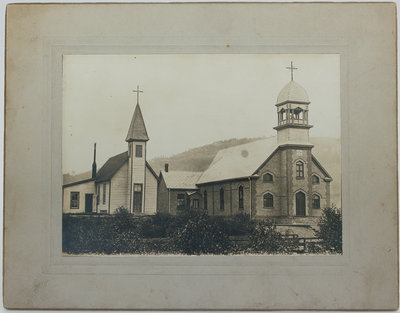 Photograph of Holy Angels Church and the Guardian Angel Church