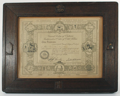 Grand Lodge of Ontario Independent Order of Odd Fellows