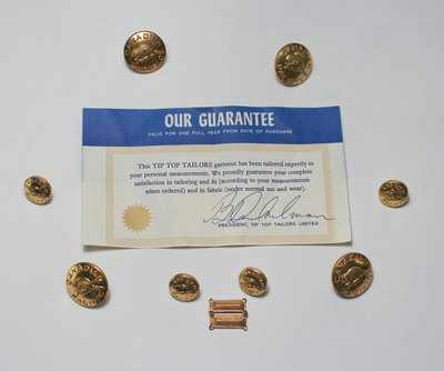 Replacement Jacket Buttons and Cufflinks With Warranty Certificate