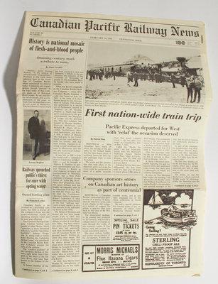 Canadian Pacific Railway News - Centennial Issue