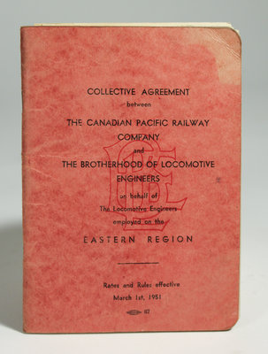 Collective Agreement Between The Canadian Pacific Railway Company and The Brotherhood of Locomotive Engineers