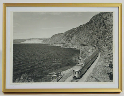 Framed Photograph of Train Near Jackfish