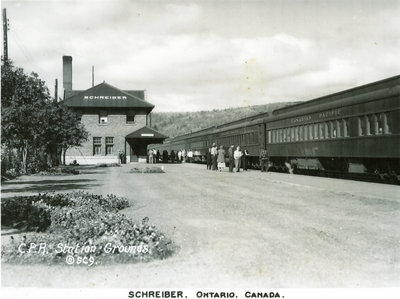 Canadian Pacific Railway Yard in Schreiber