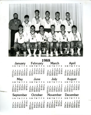 1988 Calender of 1987 NWOSSA Male Volleyball Champs
