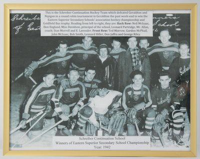 Schreiber Continuation School Hockey Team