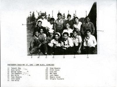 Group Photo at Schreiber Japanese Internment Camp