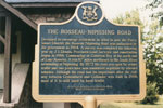 Historic Plaque of Rosseau-Nipissing Road