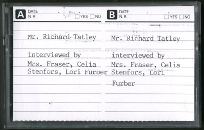Richard Tatley Interview
