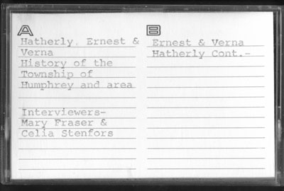 Mr. and Mrs. Ernest Hatherly Interview