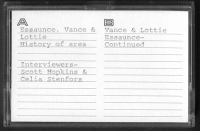 Vance and Lottie Essaunce Interview