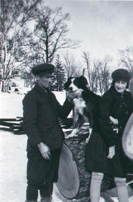 Albert, Snap and Alma at mill