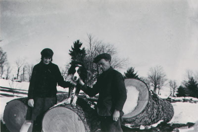Alma and Albert and Snap and logs